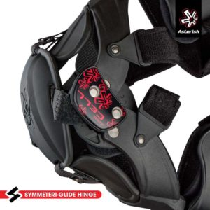 ASTERISK CELL YOUTH KNEE BRACES BLACK