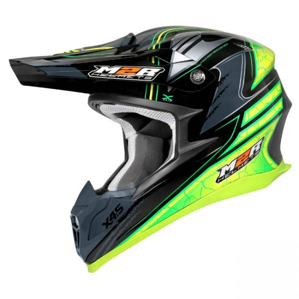 M2R  X4.5 HELMET METCALFE REPLICA PC-3 HI-VIS GLOSS FINISH