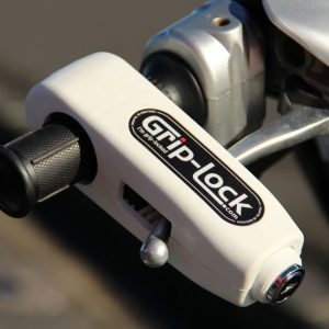 GRIP LOCK HANDLEBAR LOCK WHITE