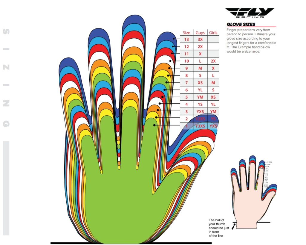 Fly Racing Glove Sizes