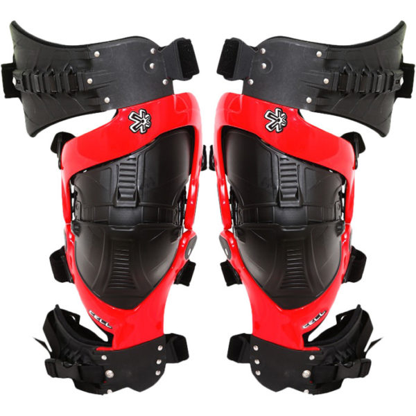 ASTERISK CELL KNEE BRACE PAIR RED