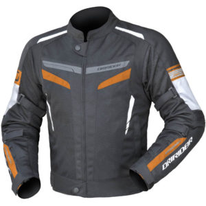 DRIRIDER AIR-RIDE 5 JACKET BLACK WHITE ORANGE