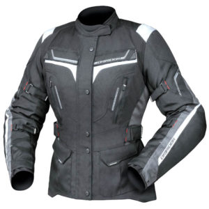 DRIRIDER APEX 5 LADIES JACKET BLACK WHITE GREY