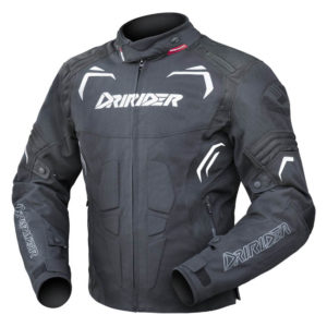 DRIRIDER REDBACK JACKET BLACK WHITE
