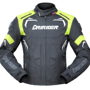 DRIRIDER REDBACK JACKET BLACK WHITE YELLOW