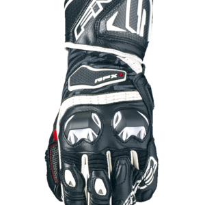 FIVE  RACING RFX1 RACE GLOVES BLACK WHITE