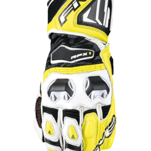 FIVE RACING RFX1 RACE GLOVES WHITE FLURO