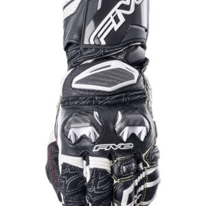 FIVE RACING RFX RACE GLOVES BLACK WHITE
