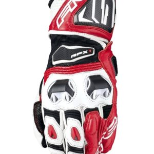 FIVE  RACING RFX1 RACE GLOVES RED WHITE