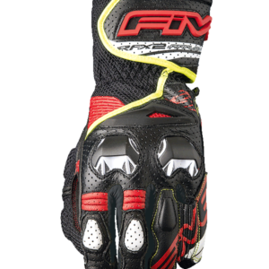 FIVE RACING RFX2 AIRFLOW GLOVES BLACK RED YELLOW