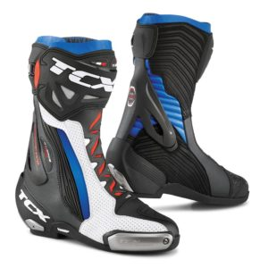 TCX RT-RACE PRO AIR BOOTS WHITE BLACK BLUE