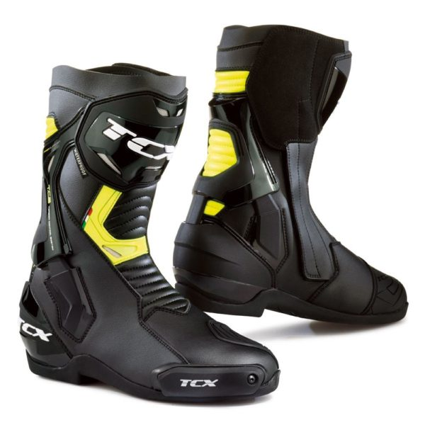 TCX ST-FIGHTER WATERPROOF BOOTS BLACK FLUORO YELLOW