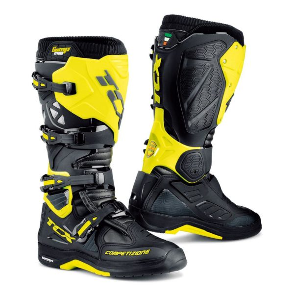 TCX COMP EVO 2 BOOTS BLACK YELLOW FLURO