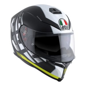 AGV K5 S DARKSTORM HELMET MATT BLACK YELLOW