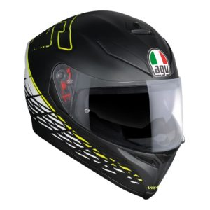 AGV K5 S THORN 46 HELMET MATT BLACK WHITE YELLOW