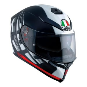 AGV K5 S DARKSTORM HELMET MATT BLACK RED