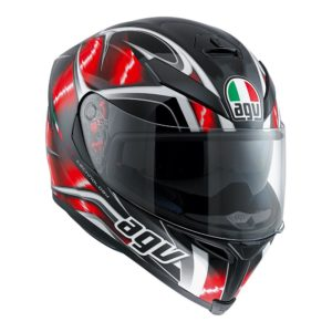 AGV K5 S HURRICANE HELMET BLACK RED WHITE