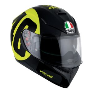 AGV K3 SV BOLLO 46 HELMET BLACK YELLOW