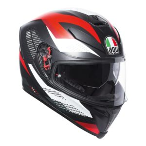 AGV K5 S MARBLE HELMET MATT BLACK WHITE RED