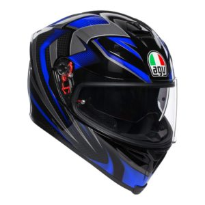 AGV K5 S HURRICANE 2.0 HELMET BLACK BLUE