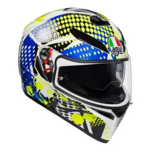 AGV K3 SV POP HELMET WHITE BLUE LIME