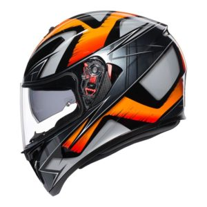 AGV K3 SV LIQUEFY HELMET BLACK ORANGE