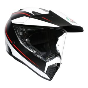 AGV AX9 PACIFIC ROAD HELMET MULTI MATT BLACK WHITE RED