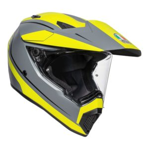AGV AX9 PACIFIC ROAD HELMET  MATT GREY YELLOW FLUO BLACK