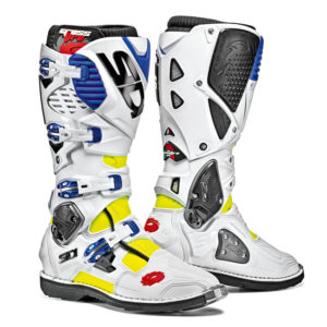 SIDI CROSSFIRE 3 YELLOW FLURO WHITE BLUE