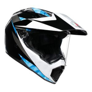 AGV AX9 NORTH HELMET BLACK WHITE CYAN
