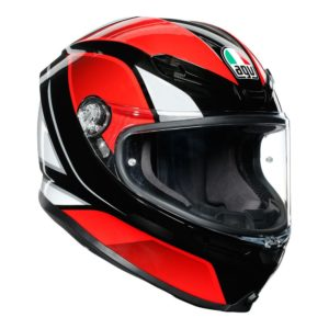AGV K6 HYPHEN HELMET BLACK RED WHITE