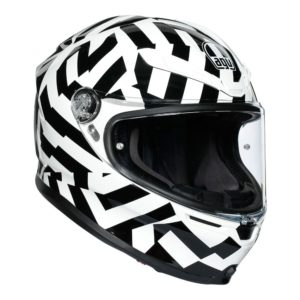 AGV K6 HELMET SECRET BLACK WHITE