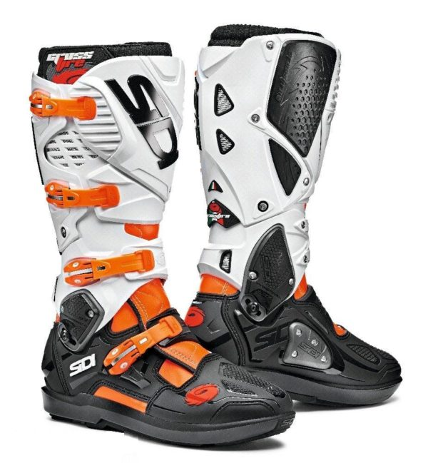 SIDI CROSSFIRE 3 SRS ORANGE FLUO BLACK WHITE
