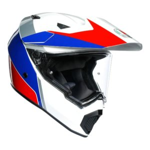 AGV AX9 ATLANTE WHITE BLUE RED HELMET