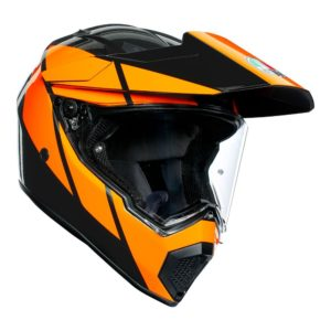 AGV AX9 TRAIL GUNMETAL ORANGE HELMET