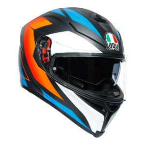 AGV K5 K5 S CORE BLACK BLUE ORANGE HELMET