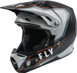 FLY RACING FORMULA CARBON AXON BLACK GREY ORANGE HELMET