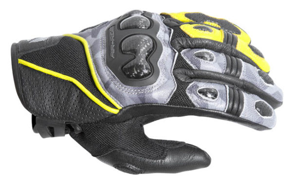 DRIRIDER AIR-RIDE 2 S/C GLOVES CAMO HI-VIS