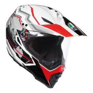 AGV AX-8 DUAL EVO EARTH WHITE BLACK RED