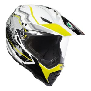 AGV AX-8 DUAL EVO EARTH WHITE BLACK YELLOW FLURO