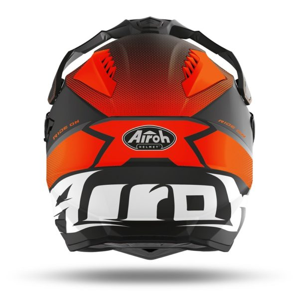 AIROH COMMANDER PROGRESS ORANGE MATT HELMET